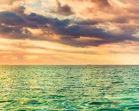 Seaview at sunset. Amazing landscape