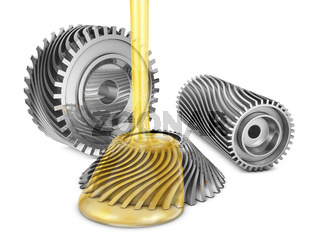 Mineral oil on gears