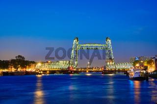 De Hef old railroad bridge in Rotterdam, Netherlands