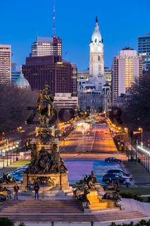 Philladelphia City Hall Night