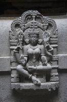 Carved figure of goddess, Bhuleshwar Temple, Yavat, Maharashtra.