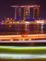 Marina Bay Sands  night Singapore