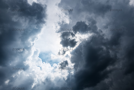 bad weather storm clouds