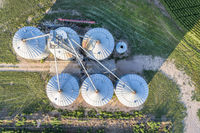 corn grain elevator aerial view