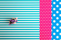 Colorful Papers Combined in Irregular Geometric Shapes