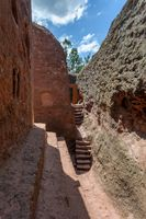 Debre Sina-Mikael Orthodox monolith Lalibela, Ethiopia