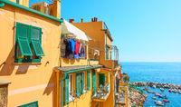 Houses near the sea in Riomaggiore