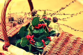 decor berry bush in basket