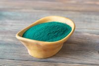 Bowl of spirulina