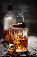 Cigar on a glass