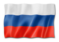 Russian flag isolated on white