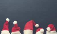 Five hat of Santa