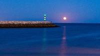 Moon rising in Lagos harbour