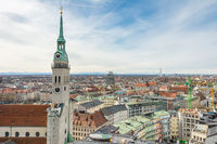 Aerial view over the city of Munich