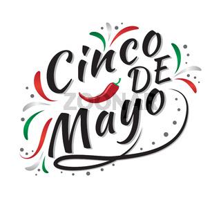 Cinco de Mayo mexican greeting card. Vector illustration