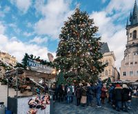 Christmas tree at Old Town Square in Prague