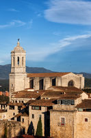 Girona Old Town With Cathedral