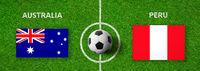 Football match Australia vs. Peru