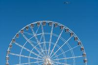 White ferris wheel on Steel Pier in Atlantic City on New Jersey coastline