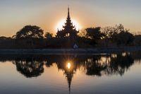 Amazing Sunset in Mandalay, Myanmar (Burma)