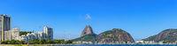 Botafogo beach, Sugar Loaf hill, sea and buildings