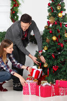 Couple with Christmas gifts