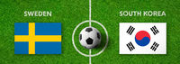 Football match Sweden vs. South Korea