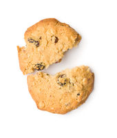 Sweet cookie with raisins.