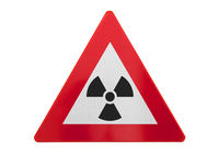 Traffic sign isolated - Radiation
