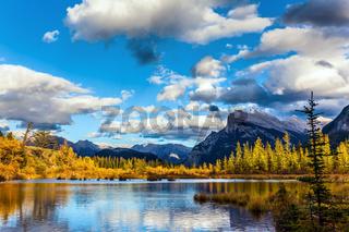 Warm autumn on the lake Vermilion