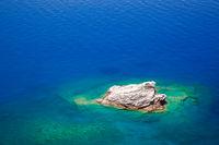 Rock island and beautifu lblue sea