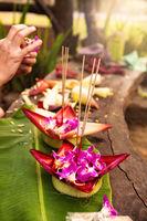 Cultural festival in Asia, Loi Krathong. Good luck symbol.