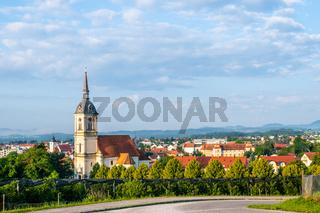 Panoramic view of Slovenska Bistrica, Slovenia