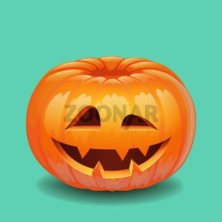 Halloween pumpkin face - creepy smile Jack o lantern