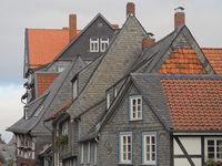 Goslar - Schiefergedeckte Altstadthäuser, Deutschland