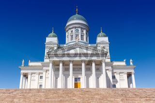 Helsinki Finnland Dom Kathedrale Kirche Tuomiokirkko Reise Reisen