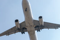 The aircraft approaching the airport to land