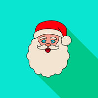 Face of santa claus on a blue background