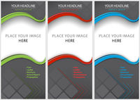 Set of Blank Brochure Template