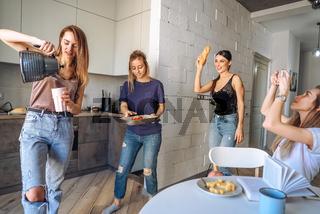 friends in the kitchen