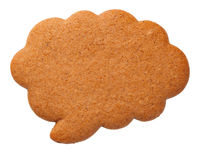 Gingerbread Speech Cloud Cookie Isolated on White Background