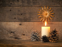 Burning Advent candle, First Advent