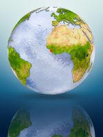 Sierra Leone on globe