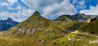 Summer mountain Durmitor National Park, Montenegro. Durmitor panoramic road, Sedlo pass.