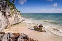 Beach in Tulum, Mexico