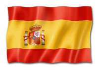Spanish flag isolated on white