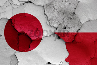 flags of Japan and Poland