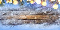 Winter seasonal wooden table