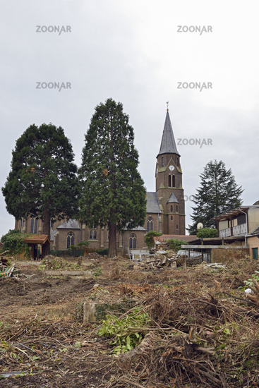 vor dem Abriss... St. Albanus *Kerpen-Manheim* vor dem Abriss, ein Opfer für den Braunkohlen-Tagebau