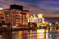 Fukuoka Naka River sunset Yatai Food stall